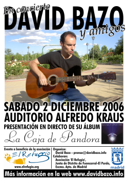En concierto David Bazo y amigos - frontal flyer