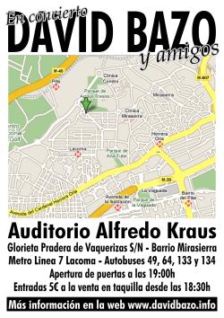 En concierto David Bazo y amigos - trasera flyer