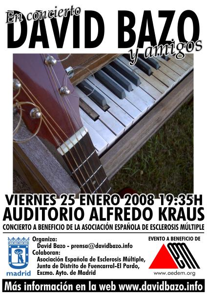 "Flyer frontal ""David Bazo y Amigos 2008″"
