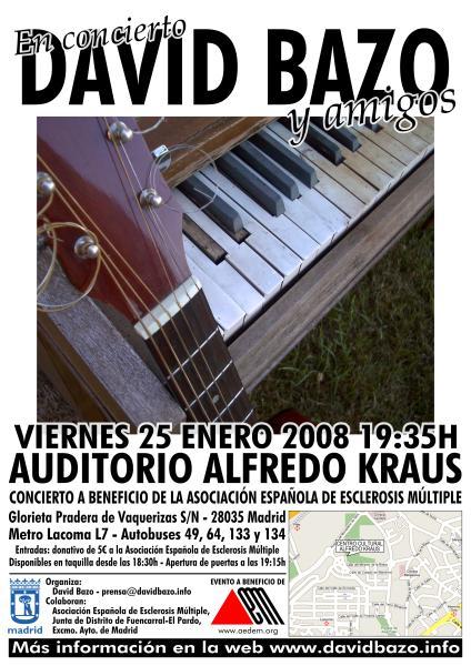 """Poster frontal """"David Bazo y Amigos 2008″"""